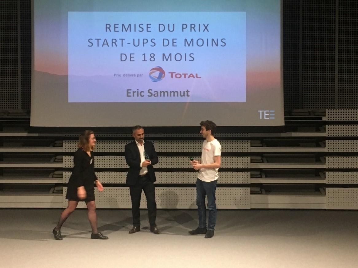 Remise de prix Eric Concours Total EDHEC Entreprendre