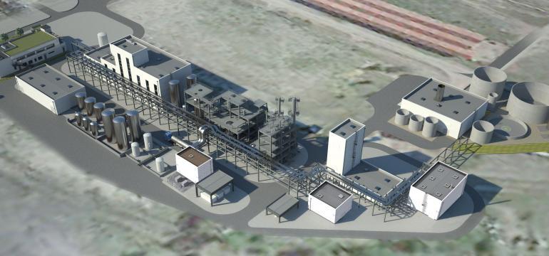 Maquette 3D usine METEX