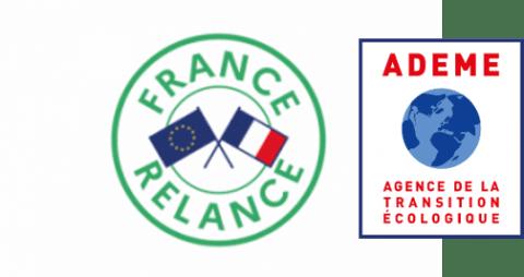 Logos ADEME et France Relance