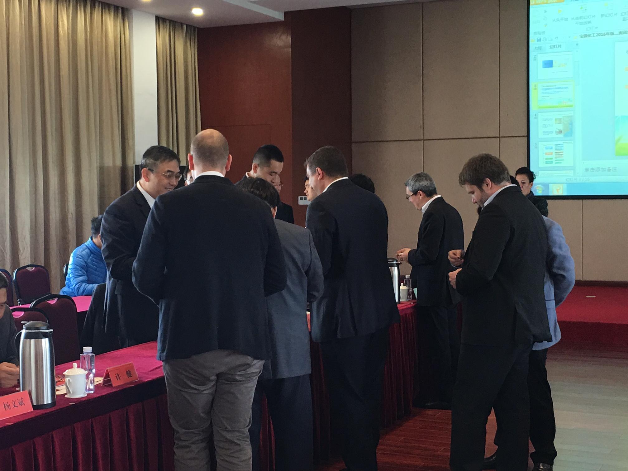 RDV d'affaires à Shanghai chez Baosteel