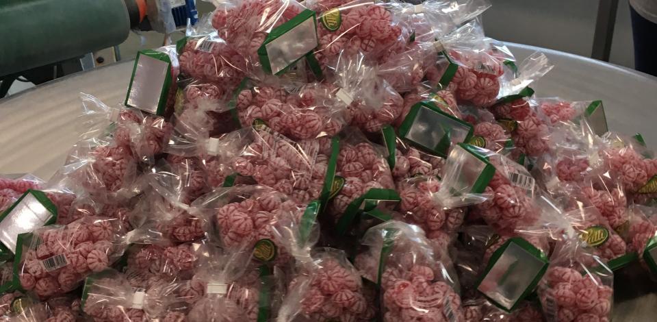 Les bonbons de sucre cuit Kubli