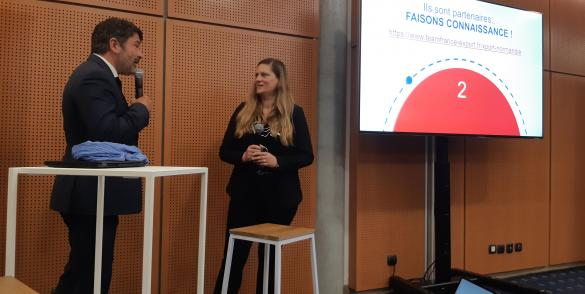Céline au lancement Team France Export - Business France