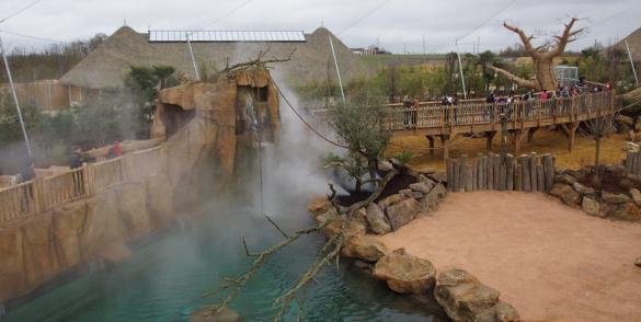 AAB, soutenue par Total Développement Régional, a construit la Réserve des hippopotames, àBeauval